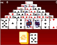 Pyramid solitaire online j�t�k